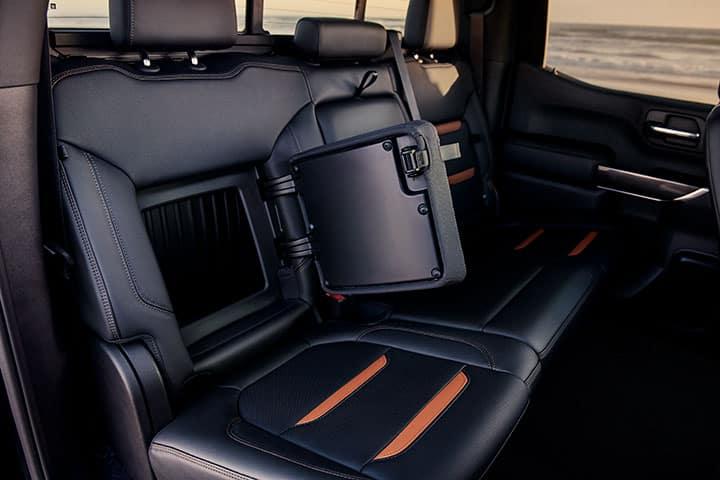 2021 GMC Sierra 2500/3500HD Crew Cab AT4 Interior Featuring Rear Seat Storage; Jet Black with Kalahari Accents Interior Seating