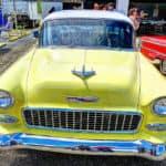 car show yellow car
