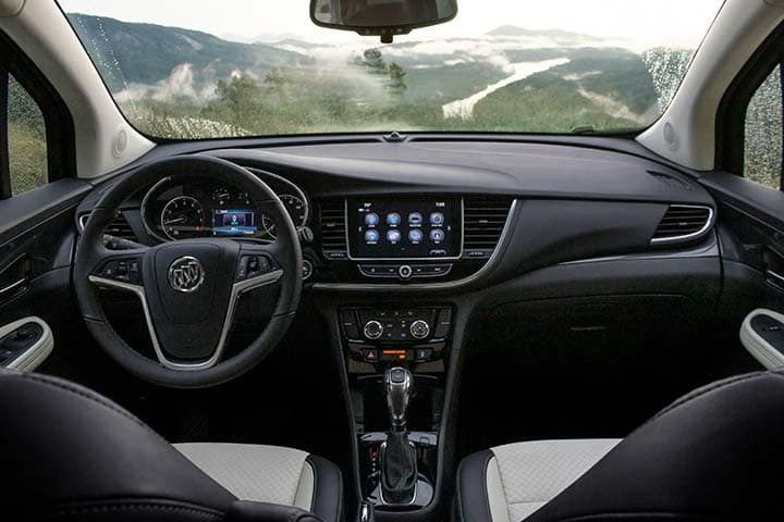 2021 Buick Encore Preferred (1SB) interior shown in Shale with Ebony accents