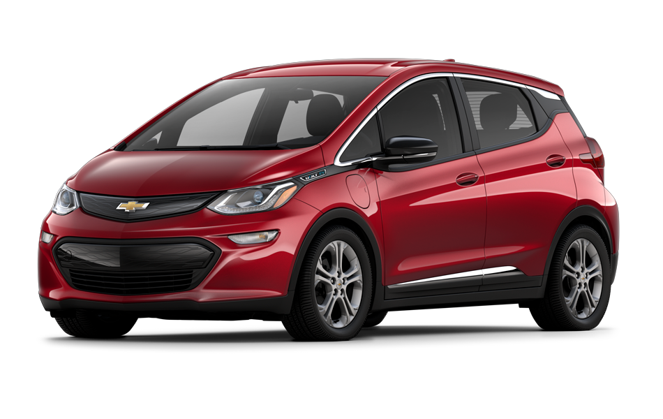 Chevy Bolt 2021 in Cajun Red Tintcoat color