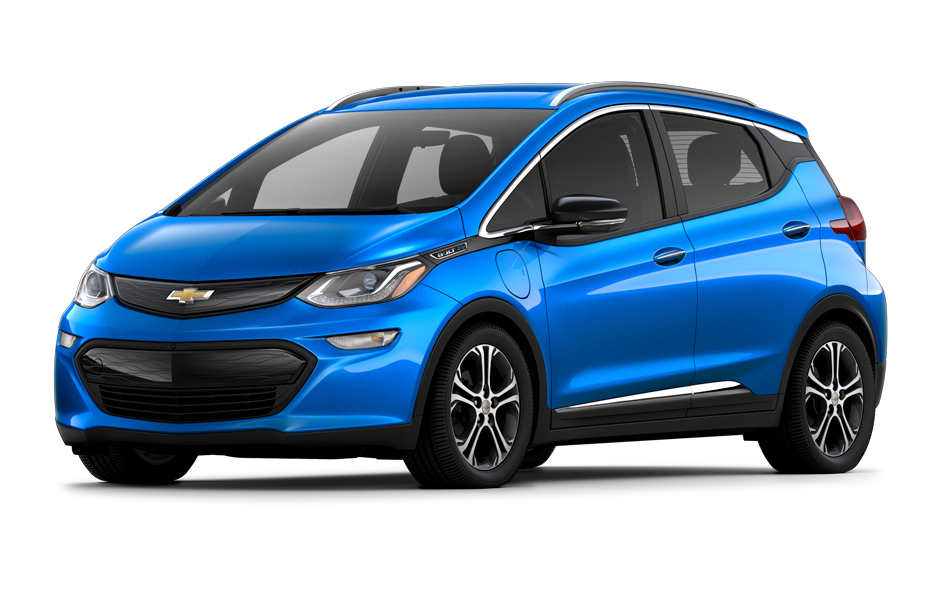 Chevy Bolt 2021 in Kinectic Blue Metallic color