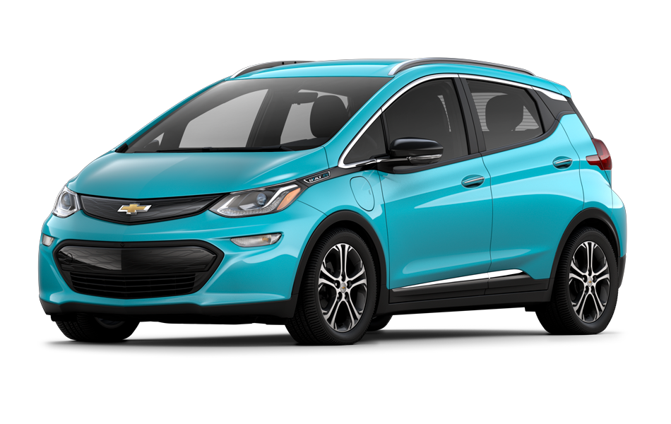 Chevy Bolt 2021 in Oasis Blue color