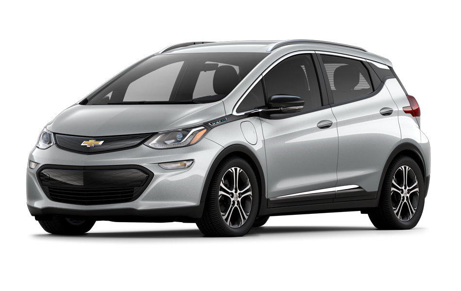 Chevy Bolt 2021 in Silver Ice Metallic color
