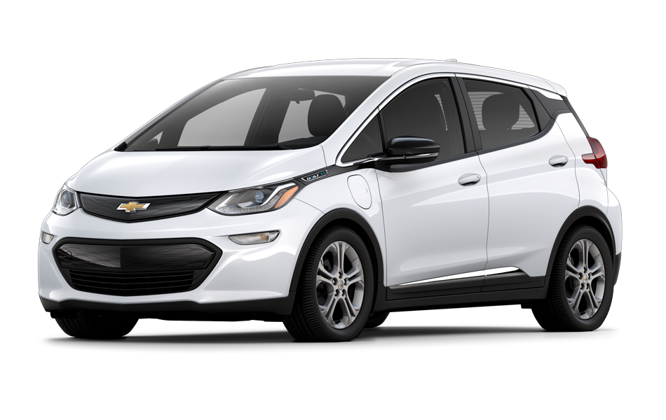 Chevy Bolt 2021 in Summit White color