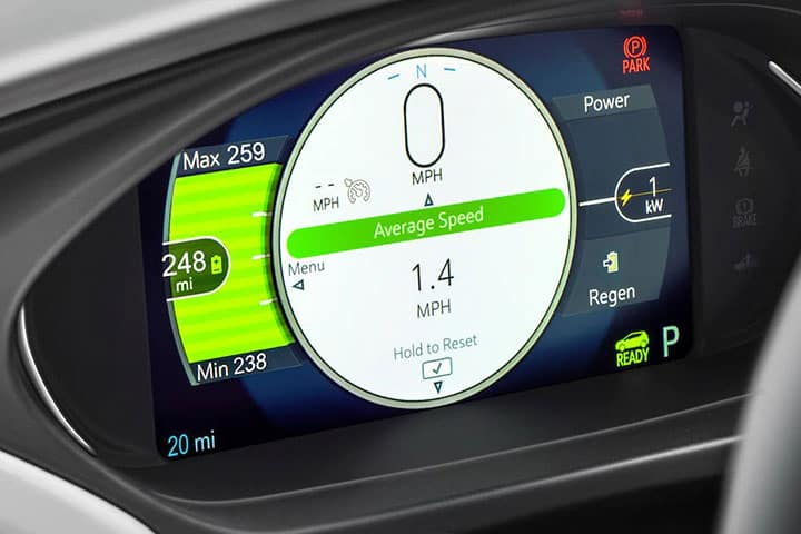 Chevy Bolt 2021 - Screen Average Speed
