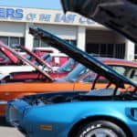 Car show line up trans AM
