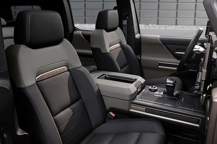 2024 GMC Hummer EV SUV interior driver and passenger seat