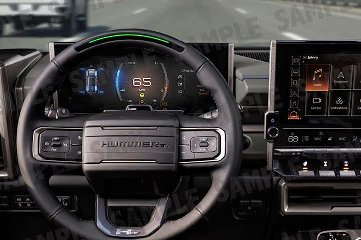 2024 GMC Hummer EV SUV steering wheel interior