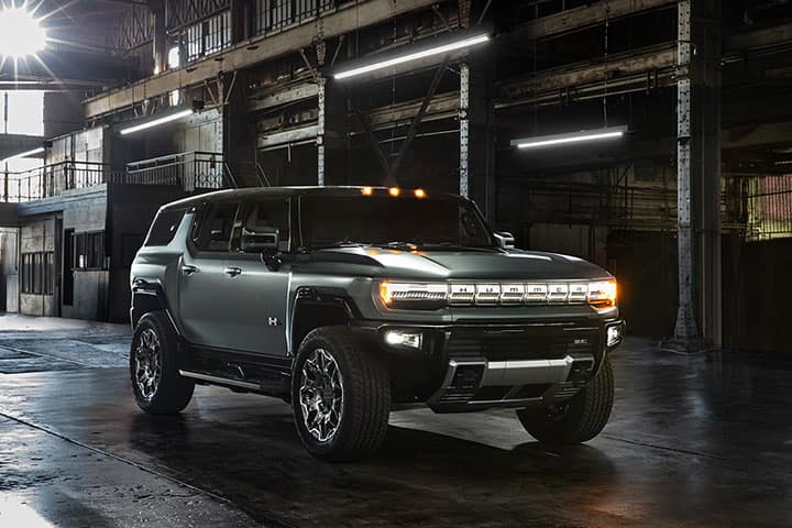 2024 GMC Hummer EV SUV Safety Rims in warehouse