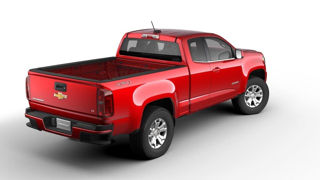 chevy colorado red 2020 extended cab