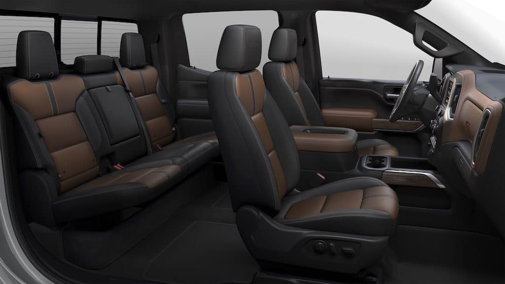 Chevrolet Silverado 1500 Crew Cab High Country - Jet Black/Umber Perforated Leather interior