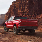 Chevy Silverado LT Trailboss in Red Hot including a 2-inch suspension lift