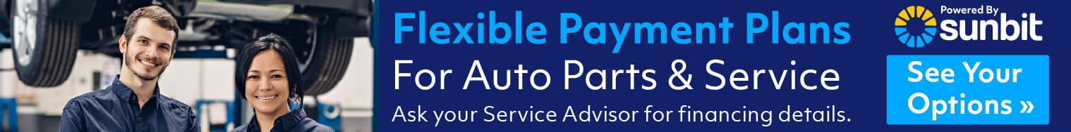 Flexible payment plans for custom parts and service
