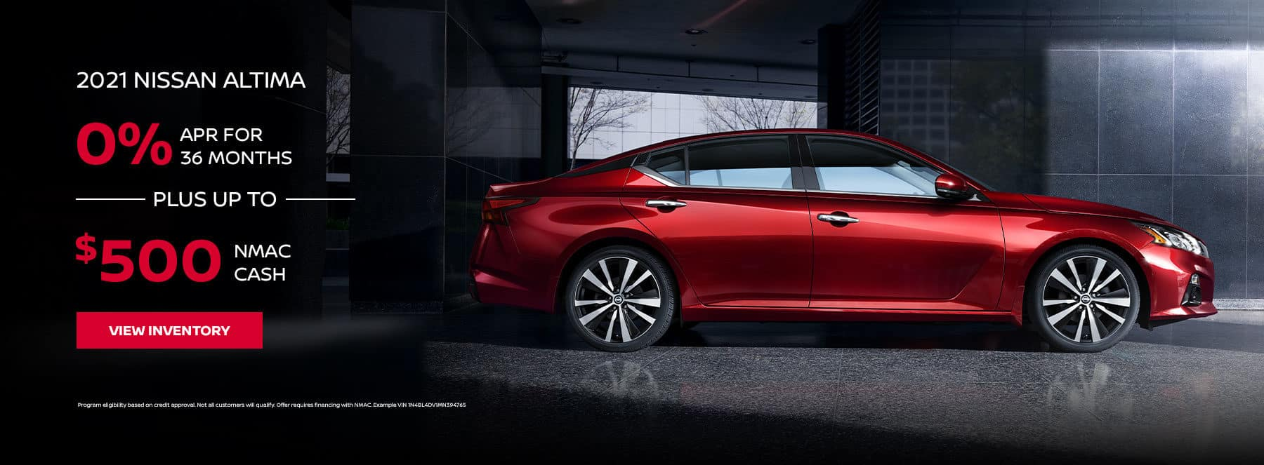 2021 NISSAN ALTIMA, 0% APR For 36 Months + Up to $500 NMAC cash