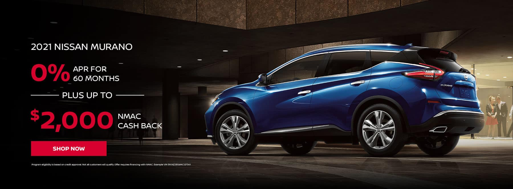 2021 NISSAN MURANO 0% APR for 60 months +up to $2000 cash back