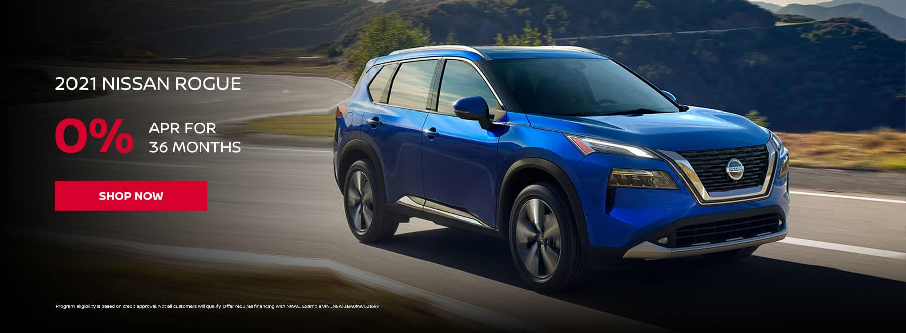 2021 NISSAN ROGUE 0% APR for 36 months