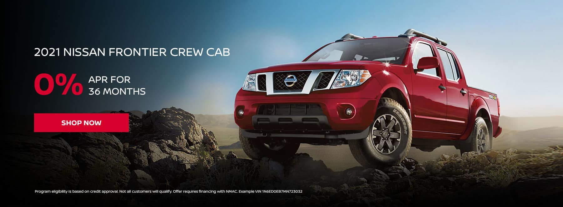 2021 NISSAN FRONTIER CREW CAB 0% APR for 36 months