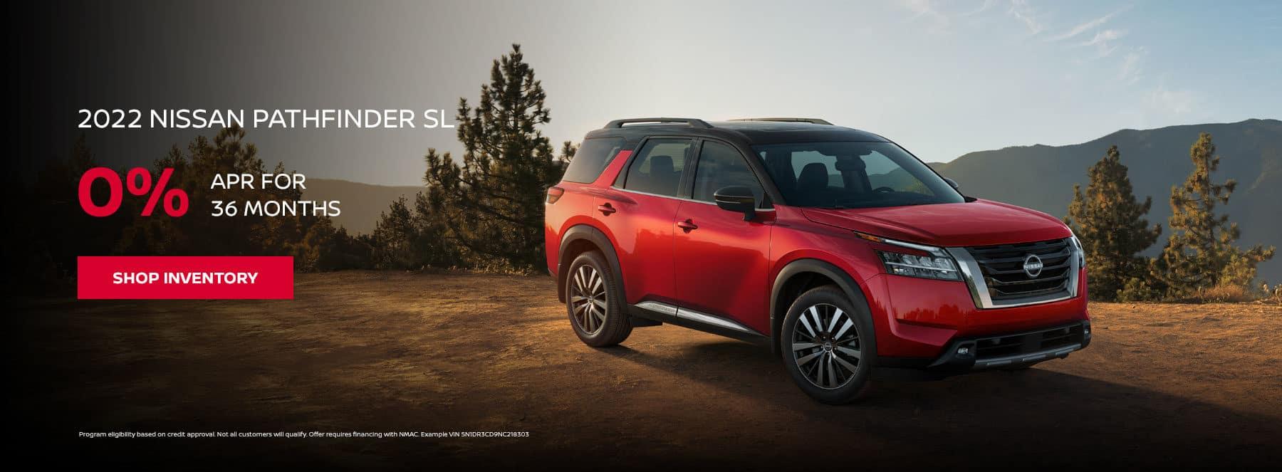 2022 Nissan Pathfinder SL, 0% APR for 36 months