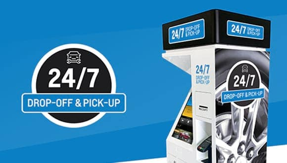 24-7 Service Kiosk for pick up and drop off