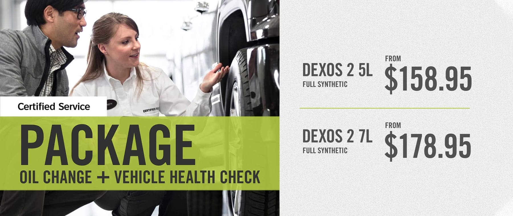 Certified Service Oil Change MPVI Vehicle Health Check