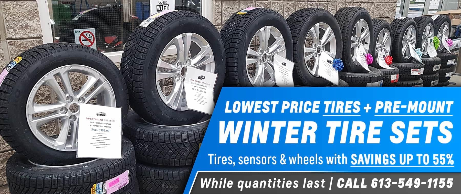 winter tires and pre-mount tire sets sale