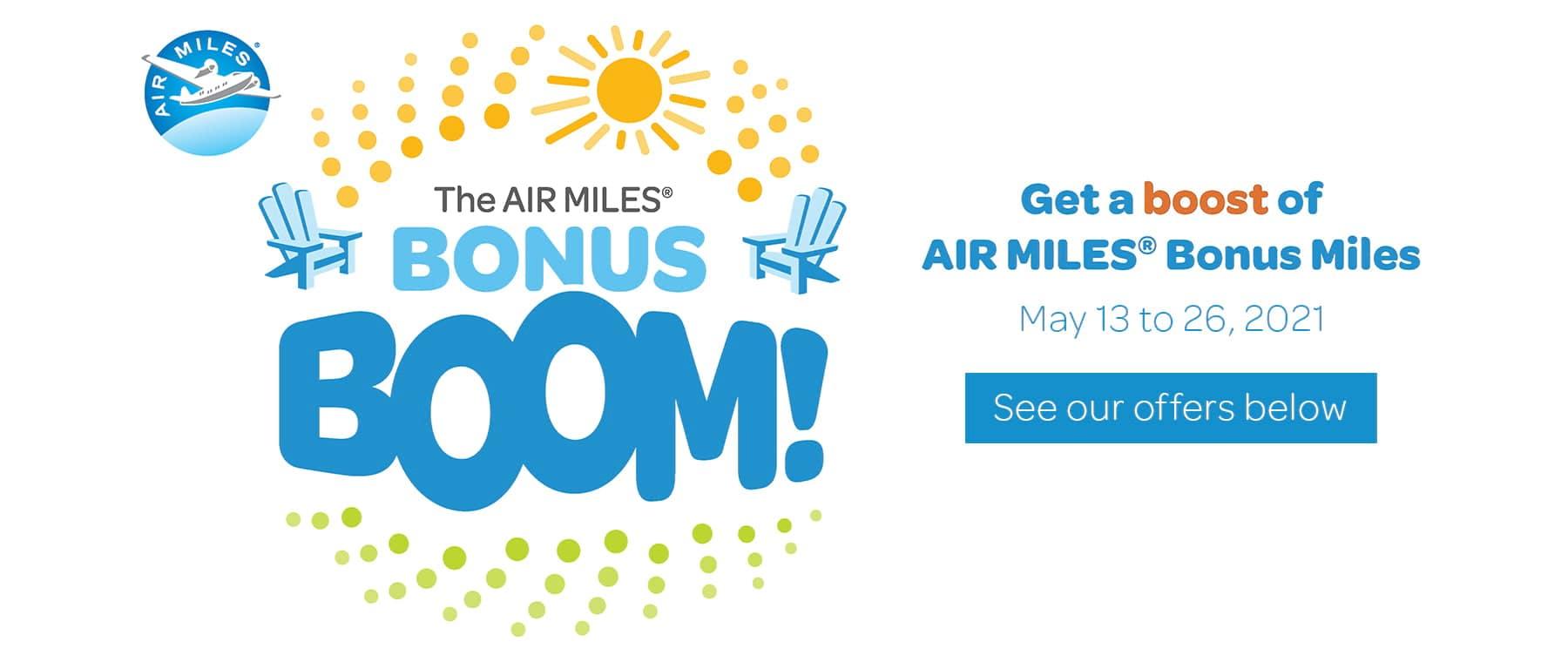 Air Miles Bonus Boom Header May 2021