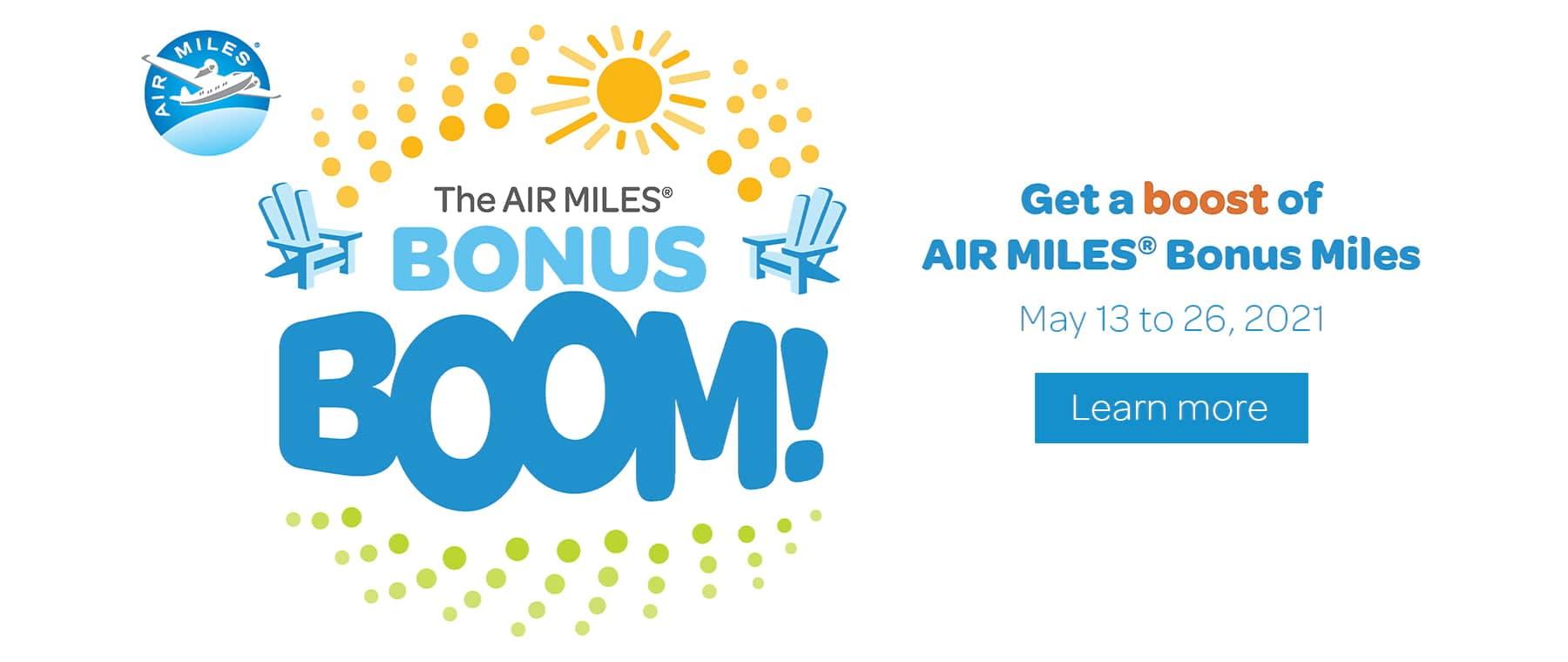 Air Miles Bonus Boom Slider May 2021