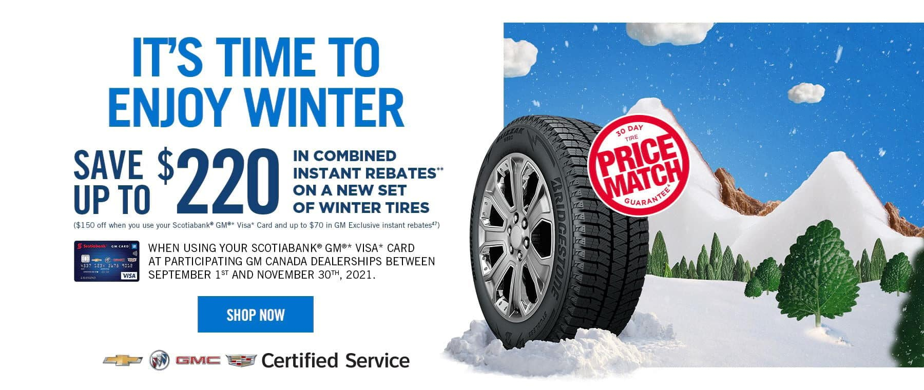 Scotiabank GM VISA Card Save On Tires Purchases