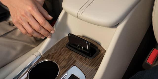 Interior phone holder