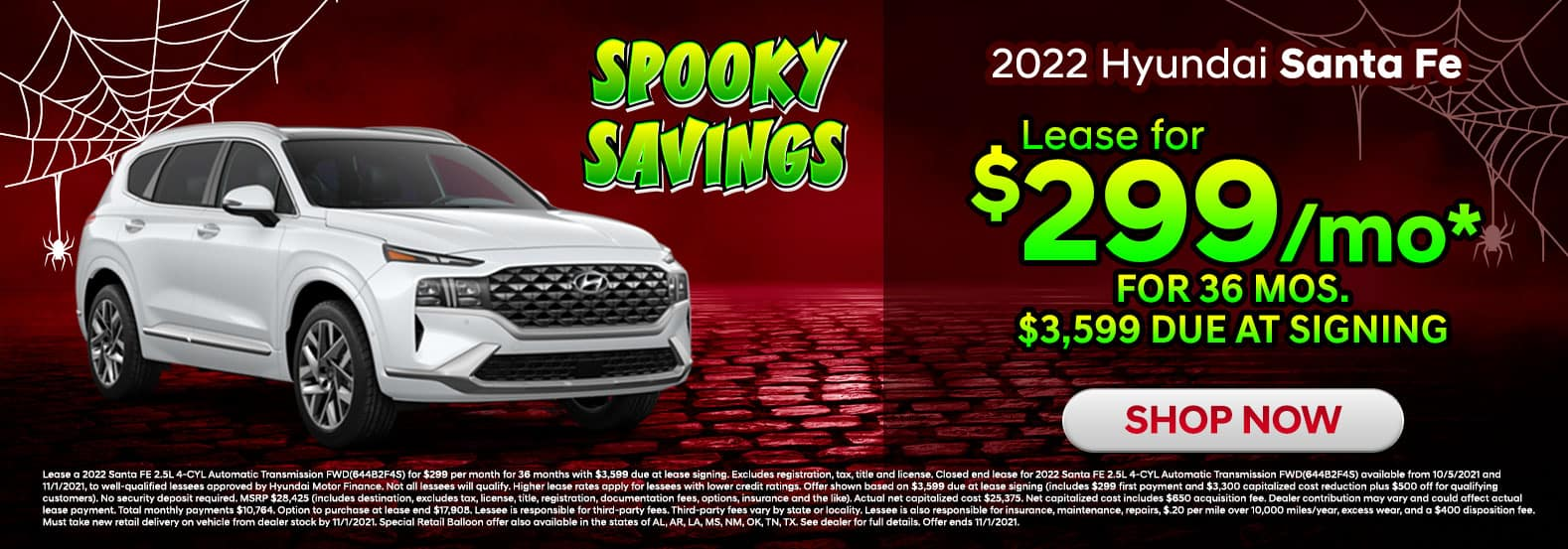 2022 Hyundai Santa Fe October Offer in Sherman, TX
