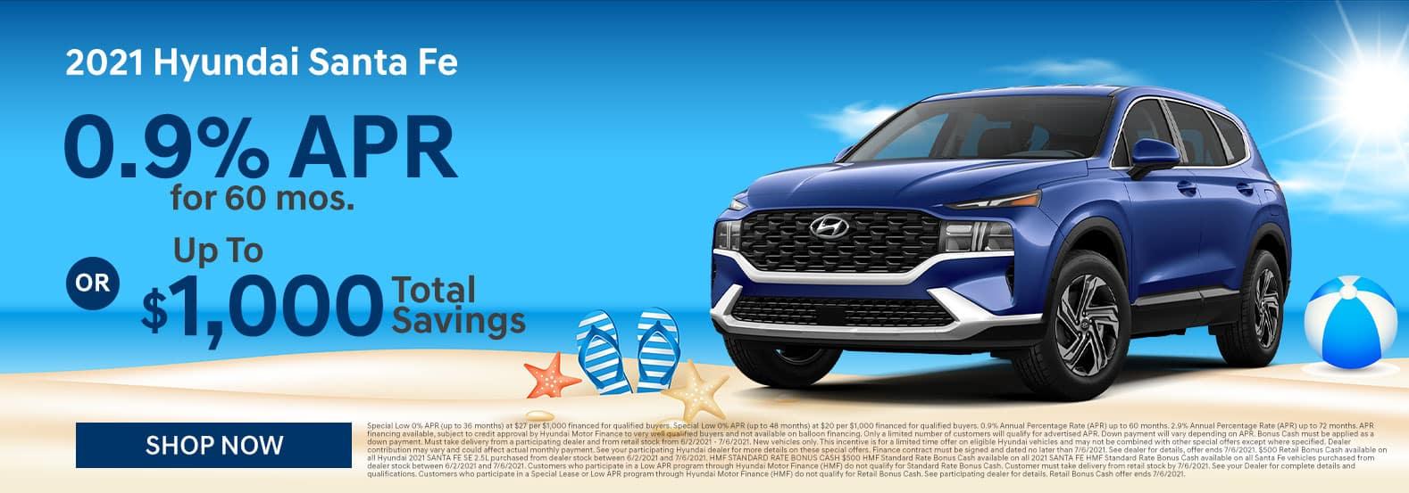 2021 Hyundai Santa Fe June Offer