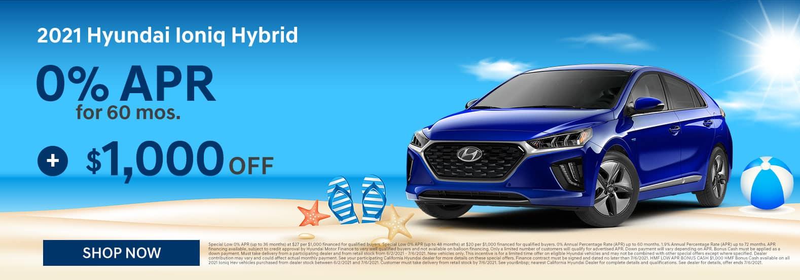 2021 Hyundai Ioniq June Offer