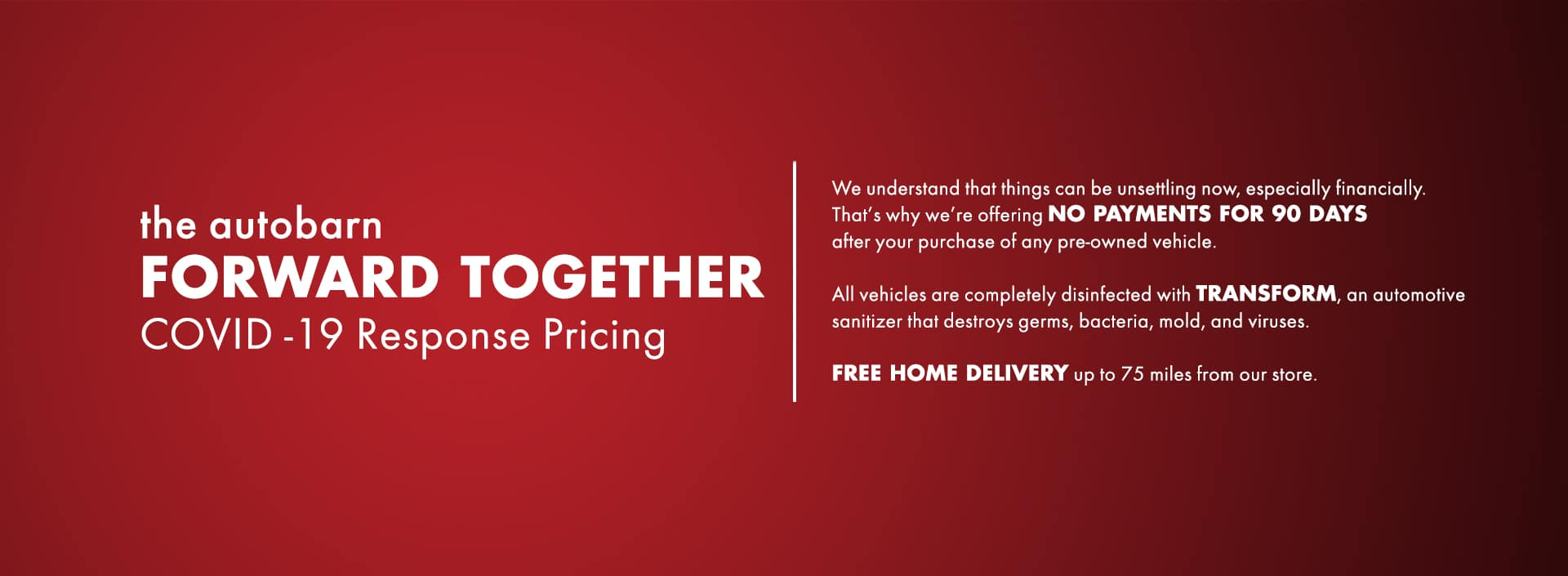 Moving Forward Together COVID-19 Pricing