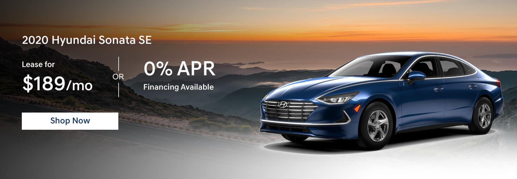 2020 Hyundai Sonata Lease for $189/mo or 0% APR