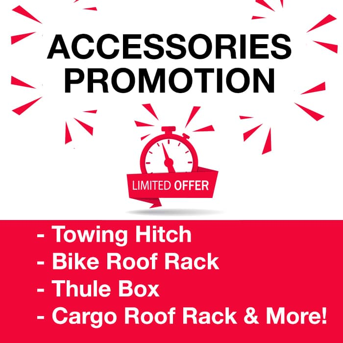 Accessories promotion at Village Nissan in Markham Ontario
