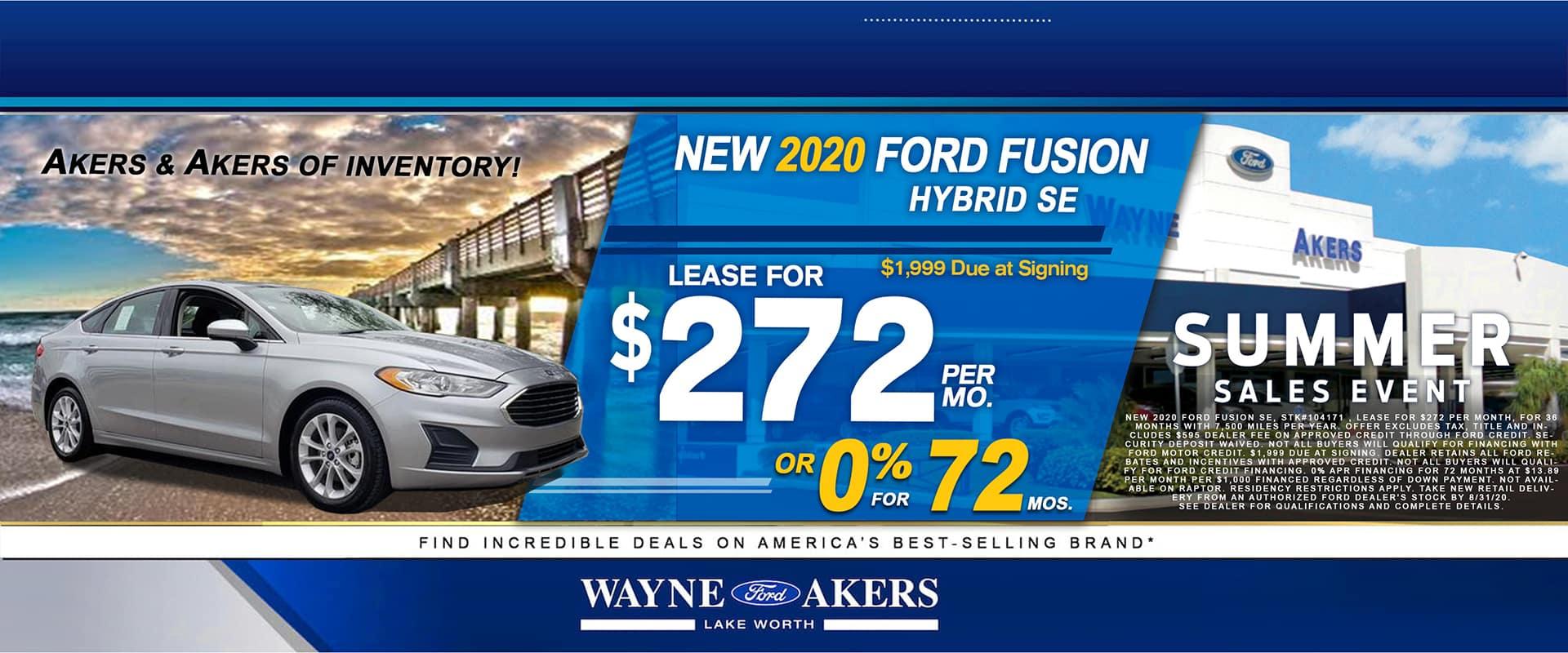2020 Nissan Fusion Banner