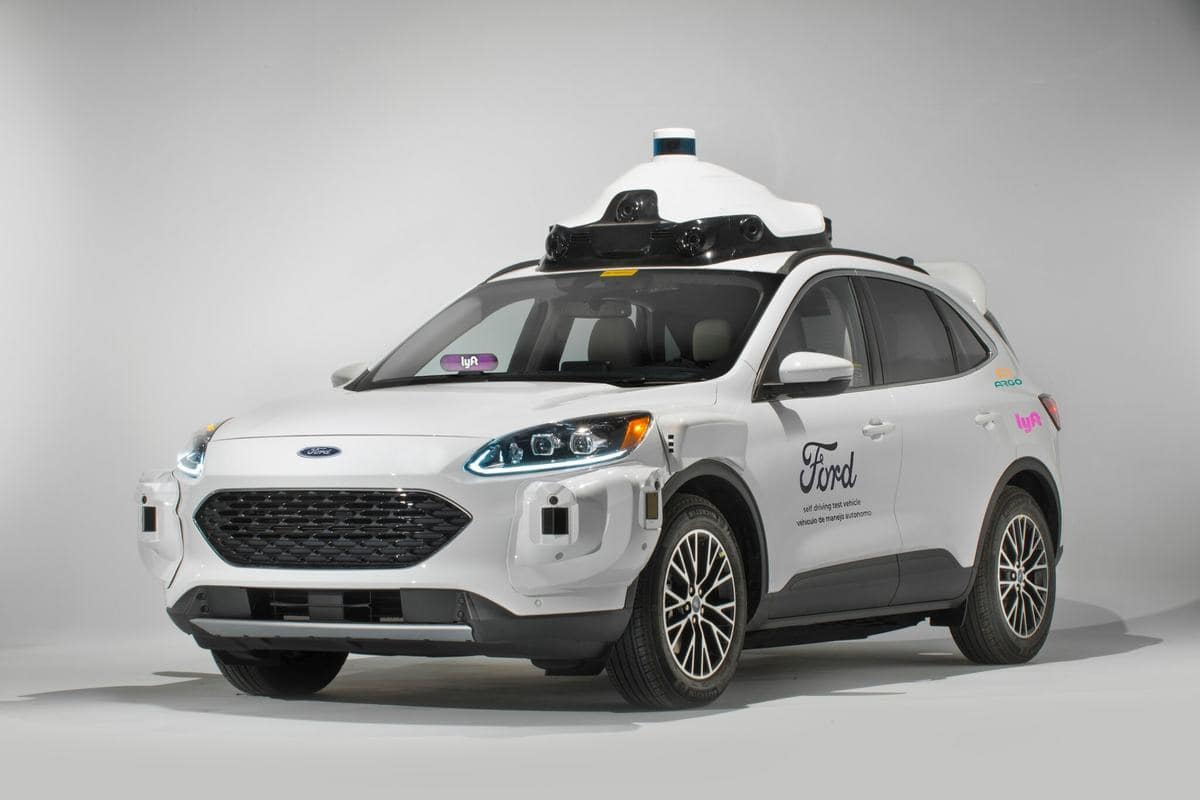 Ford and Lyft Self-Driving Vehicle