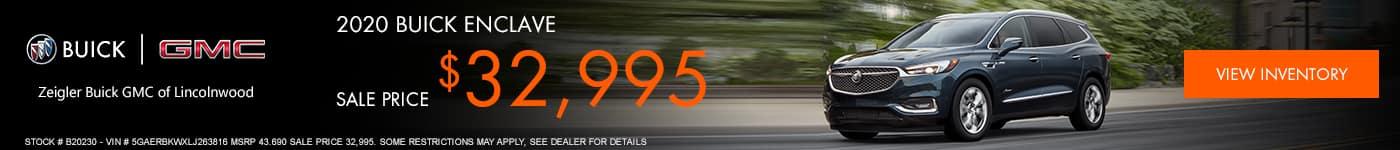 2020 BUICK ENCLAVE Subtext: Stock # B20230 - VIN # 5GAERBKWXLJ263816 MSRP 43.690 Sale Price 32,995